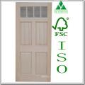 Factory Flat Panel Pine Wood/Timber Door