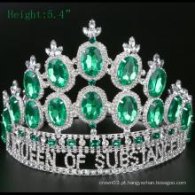 Coroa de cristal de tiara de alta qualidade coroa de strass