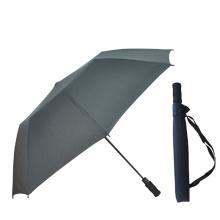 Customized Promotion Automatic Sun 2 Folding Golf Umbrella