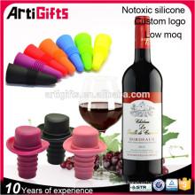 Venta al por mayor del tapón de la botella de vino de la goma de silicona