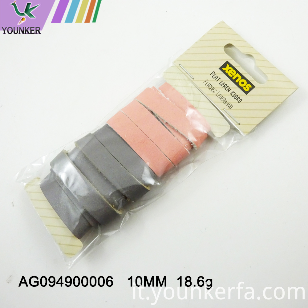 Flat Pu Leather Mix Color Cord For Jewelry Making