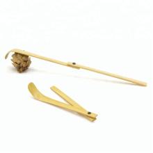 Cuchara plegable de bambú hecha a mano (Chashaku) para polvo de té verde / Matcha