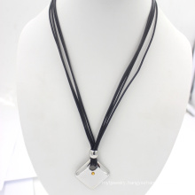 Silver Stainless Jewelry Wax Rope fashion Necklace