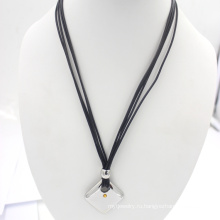 Серебро из нержавеющей ювелирных восковых веревку моды ожерелье