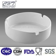 High quality triangle white ceramic porcelain round cigarette ashtray