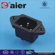 Soquete da extensão da tomada elétrica / conector do soquete de alimentação CA / tipo tampa de borracha