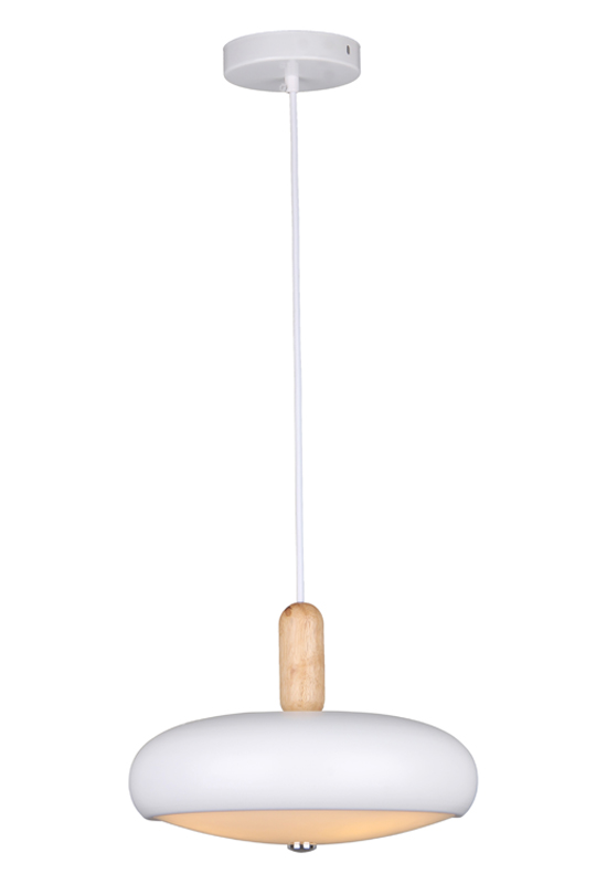 White Glass Iron Pendant Lamp