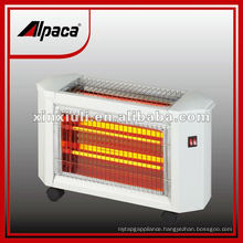 quartz heater 1800W with tip over with caster