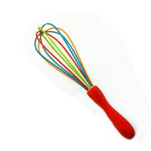 batidor de mano personalizado colorido alambre de silicona batidor de huevo