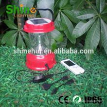 Linterna de mano pequeña lámpara de mano de la batería linterna de camping solar de batería