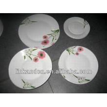 Popular 18pcs round porcelain dinner plates set