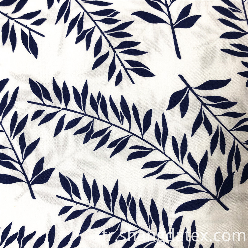 Fine Slim Leaves Design Rayon Prints
