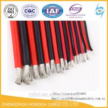 Cable / alambre de la goma de silicona 16 awg Alambre flexible de la temperatura alta de la base