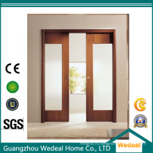 Стеклянные раздвижные французские деревянные двери для комнаты/гостиницы/проекта