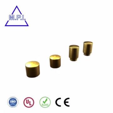 Piezas CNC niqueladas laminadas en rosca con marcado láser con logotipo