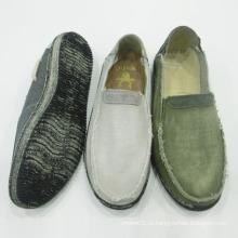 Классический мода мужская скольжения на Повседневная обувь холст обувь