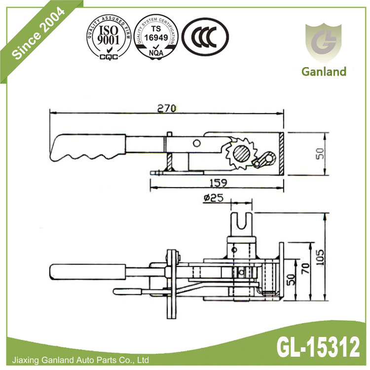 Curtain Tensioner Right Hand gl-15312
