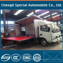 4200mm longitud etapa móvil carro de Dongfeng de 4 x 2