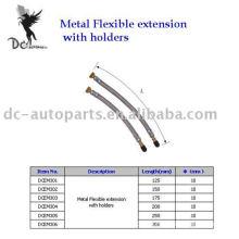 Extensão de válvula de pneu e extensão flexível de metal