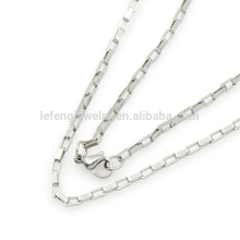 2.5mm silver chain men's necklace Floating Key Pendant Heavy Gold Chain