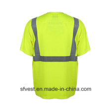 En ISO 20471 Respirable Confort Reflective Safety Polo T-Shirt Vente en gros