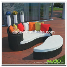 Audu Metal Rattan Hot Sale Garden Daybed