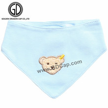 Hot Item Multi Styles Cartoon Bear Baby Bibs with Embroidery