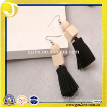 Fashion and Wholesale Handmade Earring Leather Tassel