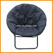 lazer rodada cadeira dobrável, padding algodão cadeira, preto, confortável