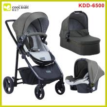 NOVO carrinho de bebê bom 3 em 1 com assento de carro e berço de transporte