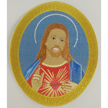 Iron-On Jesus Portrayal Embroidery Emblem