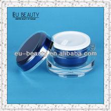 Round shiny cosmetic acrylic cream jar 15g
