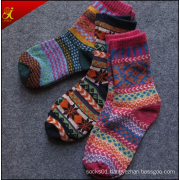 Ethnic Wind Fine Craft Series of Male and Female Retro Japanese Wind in The Thick Line of The Tube Socks