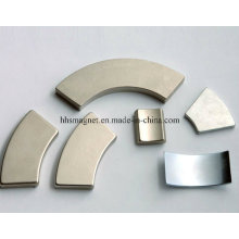 Imanes personalizados del neodimio de la forma del segmento del arco, usados para el motor