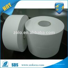 Matte White Ultra Destructible Vinyl Eierschale Papier Selbstklebendes Etikettenmaterial Rolls