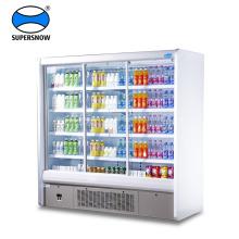Supermarkt aufrecht transparent lcd Doppel Glastür Kühlschrank
