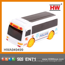 High Quality 19 cm Electric 3D Musical And Light Plastic Toy City Bus