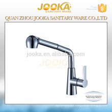 Brass chrome single lever pull out kitchen sink mixer tap
