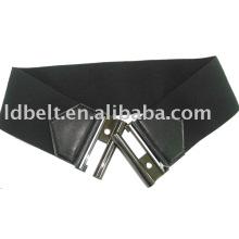 Moda cinturón negro personalizado cinturón elástico