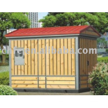 Wooden Enclosure Power Transmission Substation