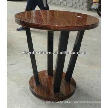 Mesa de café com moldura de madeira com soja mais barata C1045