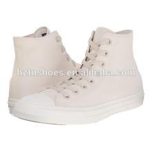 Fábrica da China Baratos Branco Sapatos de lona Mulheres atacado Flat Casual Shoes