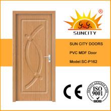Diseño de alta calidad de la puerta del PVC del MDF de China de alta calidad (SC-P162)