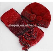El nuevo diseño de las mujeres hizo en China Otoño / invierno hecho punto los sombreros de marcha