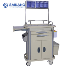 SKR-AT312 Economic Hospital Clinical Emergency Medicine Trolley With Drawers