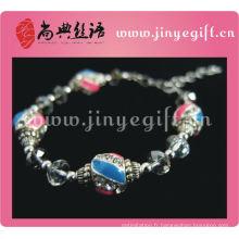 Bracelet à breloques en perles de cristal fait main Fashion Bijoux