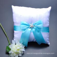 Decoração personalizada de alta qualidade coloridas bowknot belo anel portador travesseiro atacado