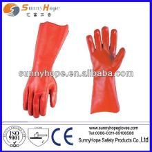 Roter PVC Vollbeschichteter Handhandschuh