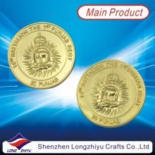 Gedenkmünze Goldüberzug Präge Logo Münze für Souvenir (LZY-1300009)