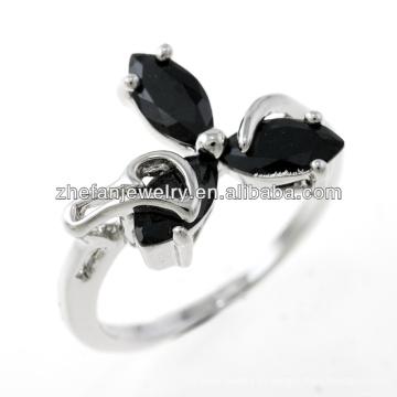 jóias loja cobre smith jóias três anéis de folha de pedra